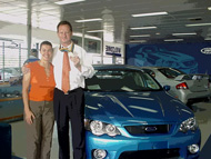McInerney Ford WA General Manager, Peter Donkin, with Shelley